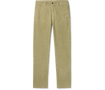 Navy Cotton-Corduroy Trousers