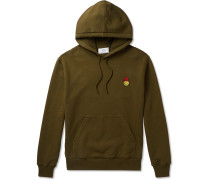 + The Smiley Company Logo-Appliquéd Mélange Loopback Cotton-Jersey Zip-Up Hoodie