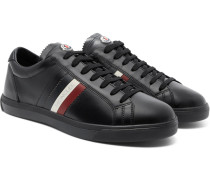 La Monaco Striped Leather Sneakers