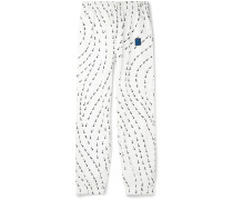 Slim-Fit Tapered Logo-Print Shell Track Pants