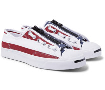 +  Takahiromiyashita Thesoloist. Jack Purcell Zip Printed Canvas Sneakers - Red