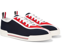 Striped Canvas Sneakers - Navy