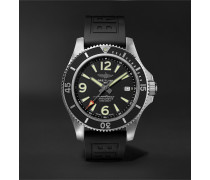 Superocean Automatic Chronometer 42mm Stainless Steel and Rubber Watch, Ref. No. A17366021B1S2