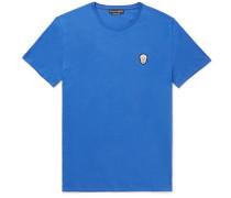 Zardozi-appliquéd Cotton-jersey T-shirt