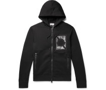 5 Moncler Craig Green Nylon-panelled Cotton-blend Jersey Zip-up Hoodie - Black