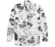 Borrowed Oversized Printed Cotton-voile Shirt