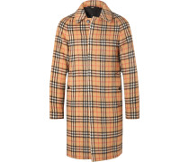 Checked Alpaca And Wool-blend Coat