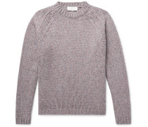 Salvation Mélange Merino Wool-blend Sweater - Lilac