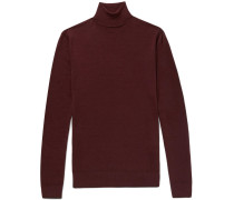 Slim-fit Mélange Wool Rollneck Sweater