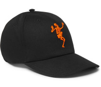 Embroidered Cotton-twill Baseball Cap - Black