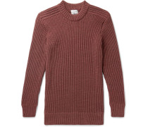 Fang Ribbed Merino Wool Sweater - Burgundy