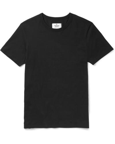 Ring-spun Cotton-jersey T-shirt - Black