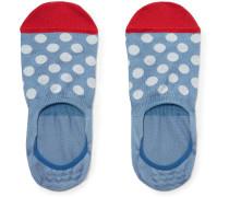 Polka-dot Stretch Cotton-blend No-show Socks