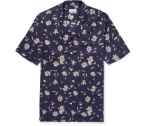Duncan Camp-collar Printed Tencel Shirt