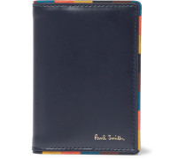 Leather Bifold Cardholder - Navy