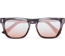 Square-frame Acetate And Silver-tone Sunglasses - Lilac