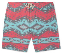 Topeka Slim-fit Long-length Printed Swim Shorts