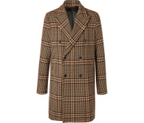 Double-breasted Prince Of Wales Checked Virgin Wool-blend Coat