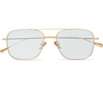 Aviator-style Gold-tone Sunglasses - Gold