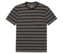 Garment-dyed Striped Slub Cotton-jersey T-shirt