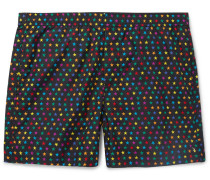 Mid-length Star-print Swim Shorts