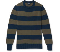 Wilcot Slim-fit Striped Cotton Sweater - Blue