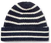 Striped Merino Wool Beanie