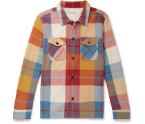 Checked Brushed Organic Cotton-twill Shirt - Multi