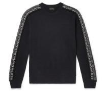 Slim-fit Fair Isle Wool Sweater - Navy