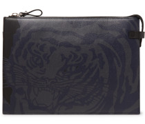 Valentino Garavani Tiger-print Leather Pouch