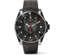 Dive 40mm Stainless Steel And Rubber Watch - Black