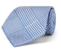 8.5cm Prince of Wales Checked Silk-Jacquard Tie