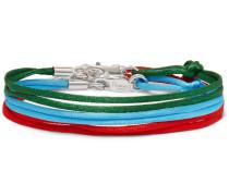 Set Of Three Silk Ribbon Bracelets