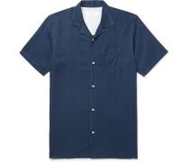 Camp-Collar Lyocell Shirt