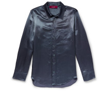 Sander Washed-Satin Shirt