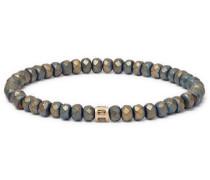 Beaded Hematite, 14-karat Gold And Diamond Bracelet