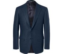 Storm-blue Slim-fit Wool-flannel Suit Jacket - Blue