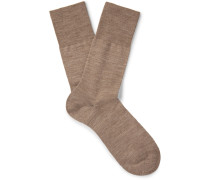 Airport Mélange Virgin Wool-blend Socks