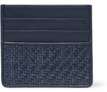 Pelletessuta Leather Cardholder - Blue