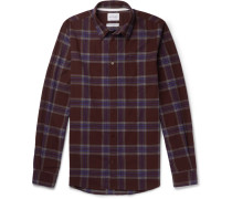Osvald Slim-fit Checked Cotton-flannel Shirt