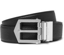 Reversible Pebble-grain Leather Belt