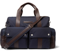 Nylon And Full-grain Leather Holdall
