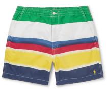 Colour-block Stretch-cotton Twill Shorts