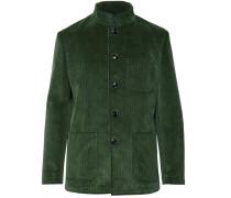 Dark-green Cotton-corduroy Suit Jacket - Dark green