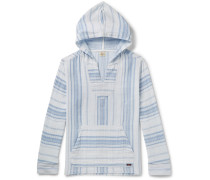 Baja Striped Cotton Hoodie