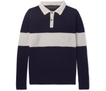 Striped Knitted Cashmere Polo Shirt