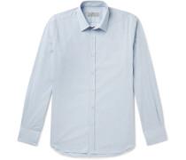Slim-Fit Puppytooth Cotton Shirt