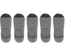 Five-pack Cotton-blend No-show Socks