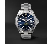 Aquaracer Automatic 43mm Steel Watch - Blue