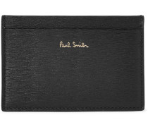 Textured-leather Cardholder - Black